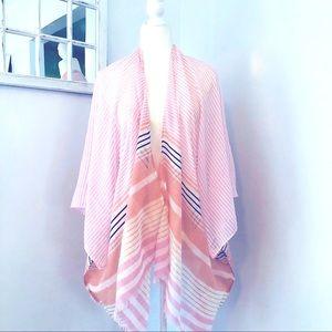 ✨Lane Bryant Patterned Sheer Open Kimono Saree